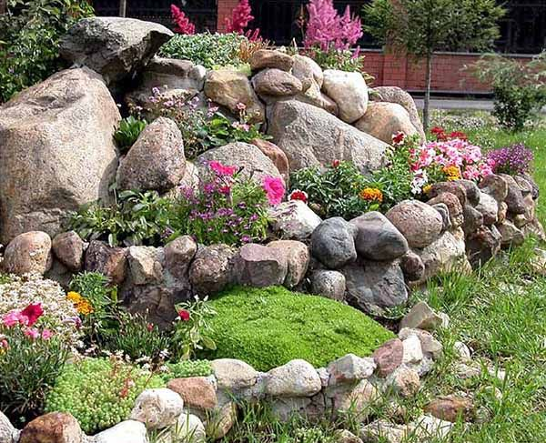 Rock Garden-It describes that the structure of rock garden is beautifully designed.