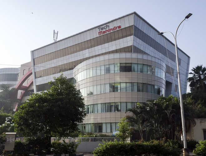 Tech Mahindra ia an multinational technology company .The purpose of the image is to give details for the same